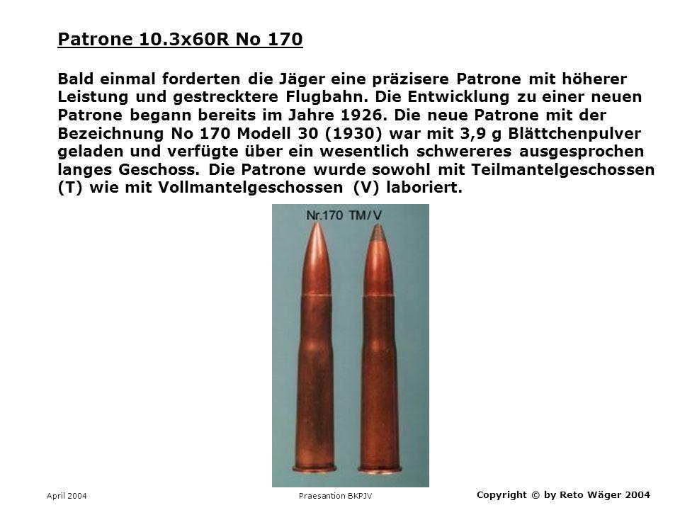 Patrone 10.3x60R No 170