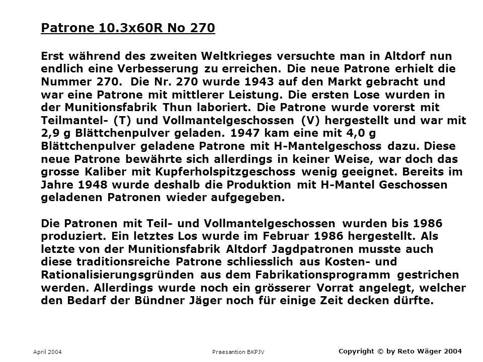 Patrone 10.3x60R No 270