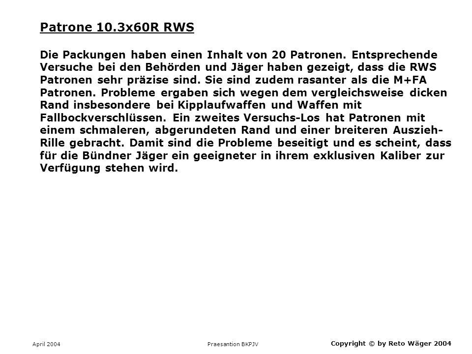 Patrone 10.3x60R RWS