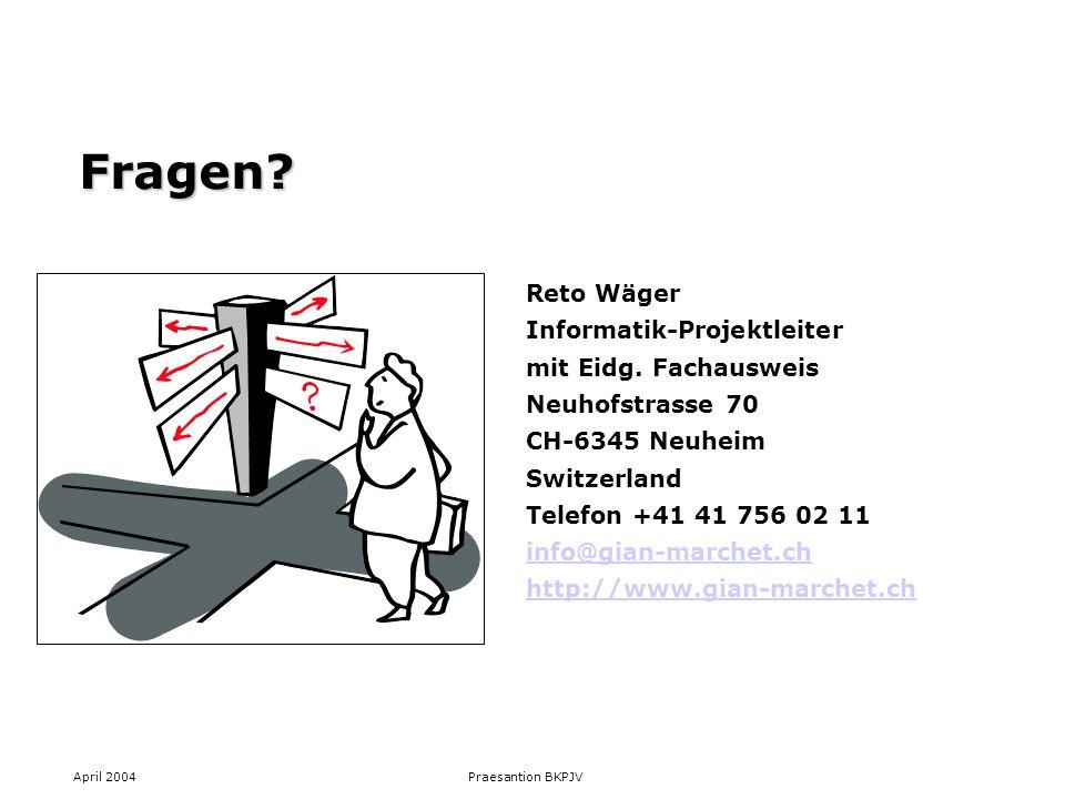 Fragen Reto Wäger Informatik-Projektleiter mit Eidg. Fachausweis