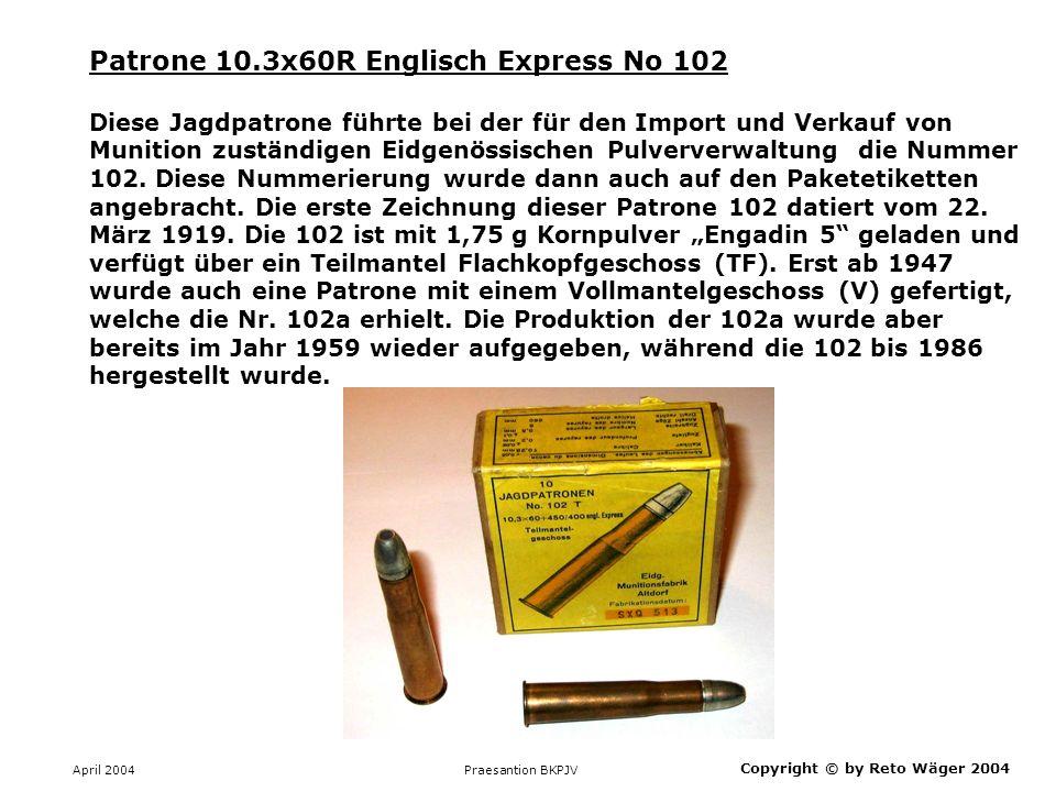 Patrone 10.3x60R Englisch Express No 102