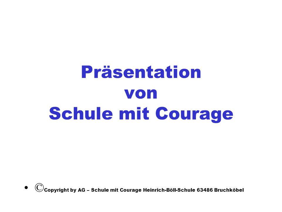 Präsentation von Schule mit Courage
