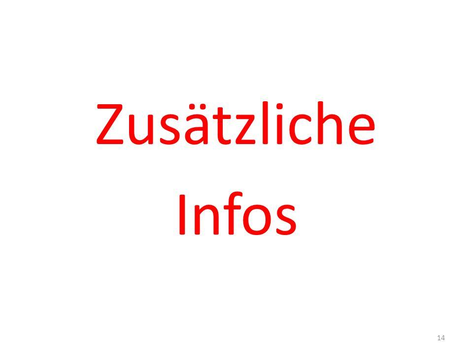 Zusätzliche Infos