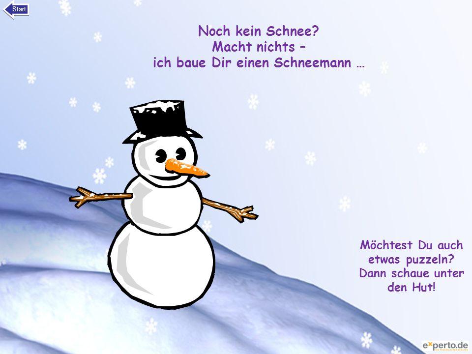 Noch kein Schnee Macht nichts – ich baue Dir einen Schneemann …