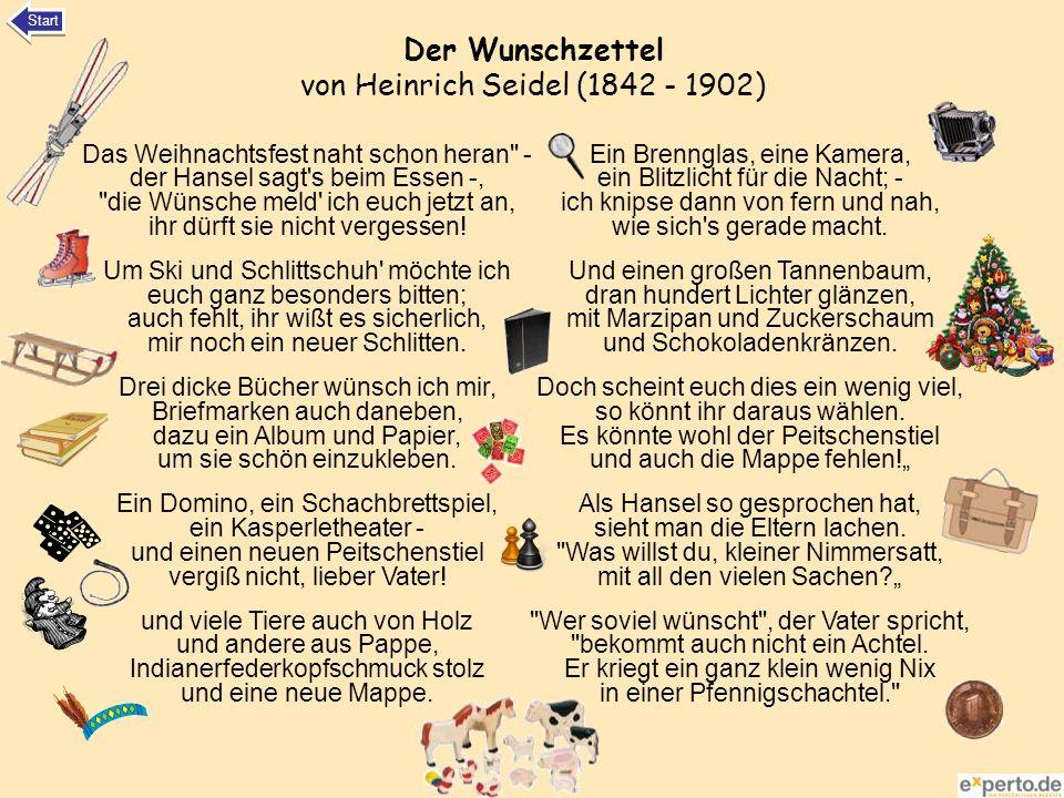 Der Wunschzettel von Heinrich Seidel (1842 - 1902)