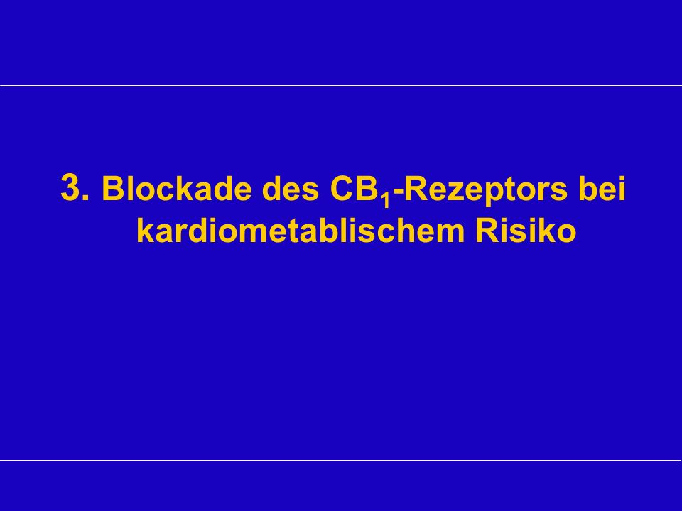 3. Blockade des CB1-Rezeptors bei kardiometablischem Risiko