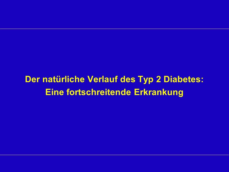 Der natürliche Verlauf des Typ 2 Diabetes: