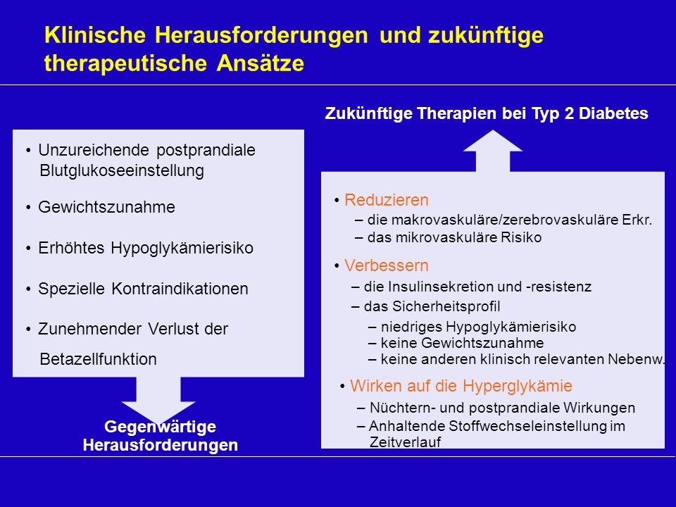 Zukünftige Therapien bei Typ 2 Diabetes Gegenwärtige Herausforderungen