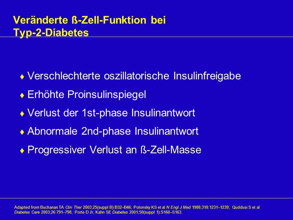 Veränderte ß-Zell-Funktion bei Typ-2-Diabetes