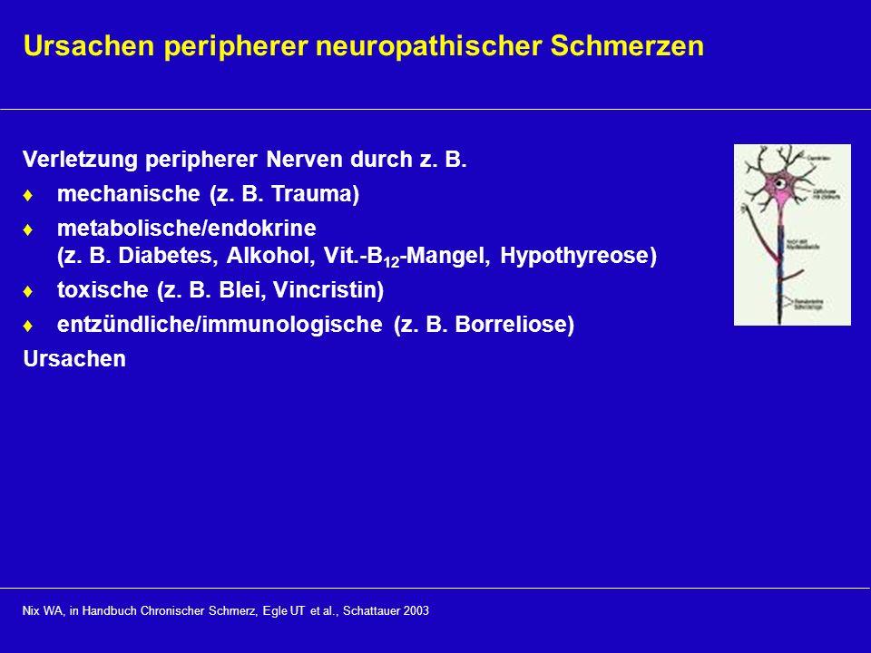 Ursachen peripherer neuropathischer Schmerzen