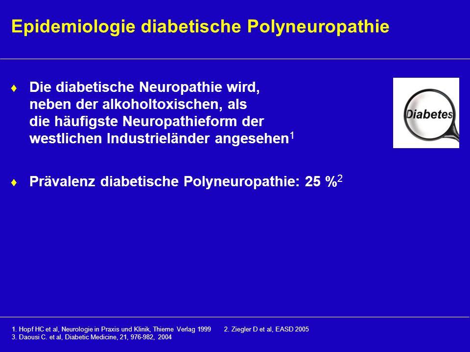 Epidemiologie diabetische Polyneuropathie