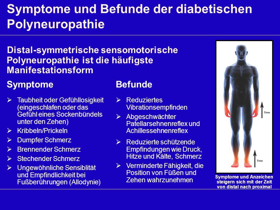 Symptome und Befunde der diabetischen Polyneuropathie