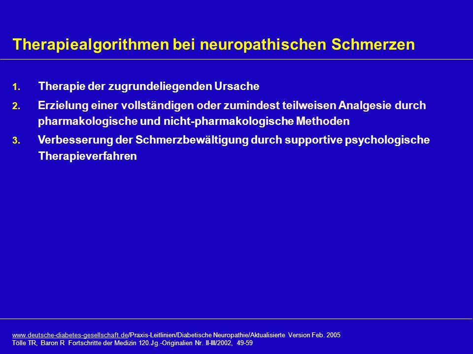 Therapiealgorithmen bei neuropathischen Schmerzen