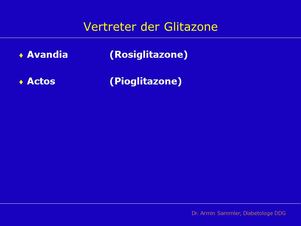 Vertreter der Glitazone
