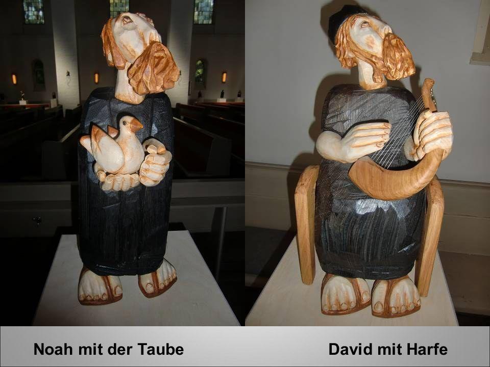 Noah mit der Taube David mit Harfe