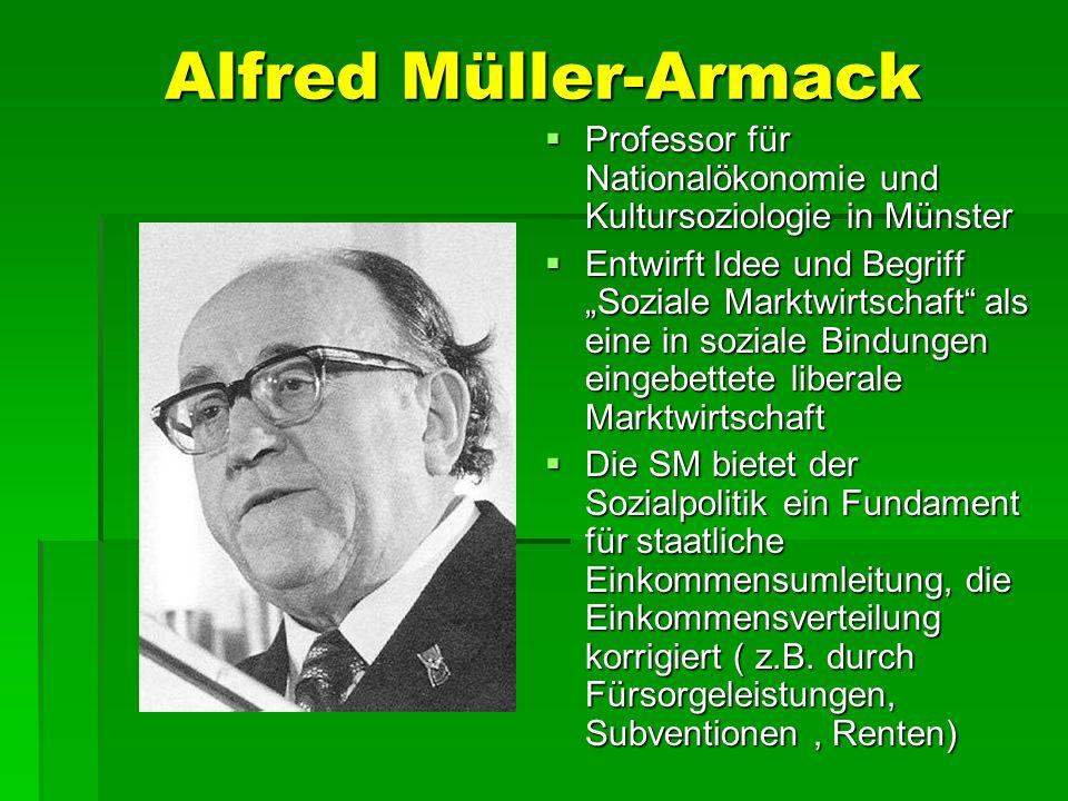 Alfred Müller-Armack Professor für Nationalökonomie und Kultursoziologie in Münster.