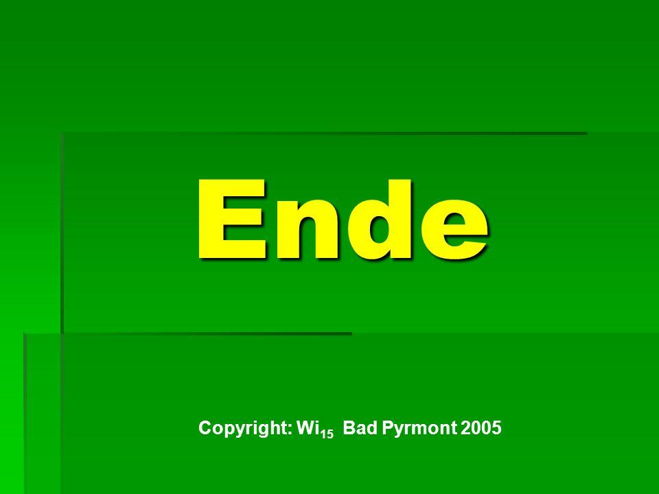 Copyright: Wi15 Bad Pyrmont 2005