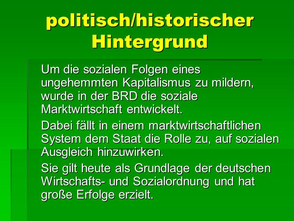 politisch/historischer Hintergrund