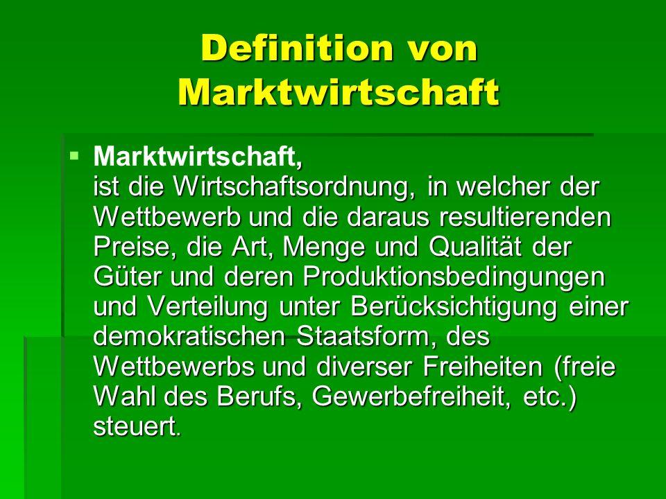 Definition von Marktwirtschaft