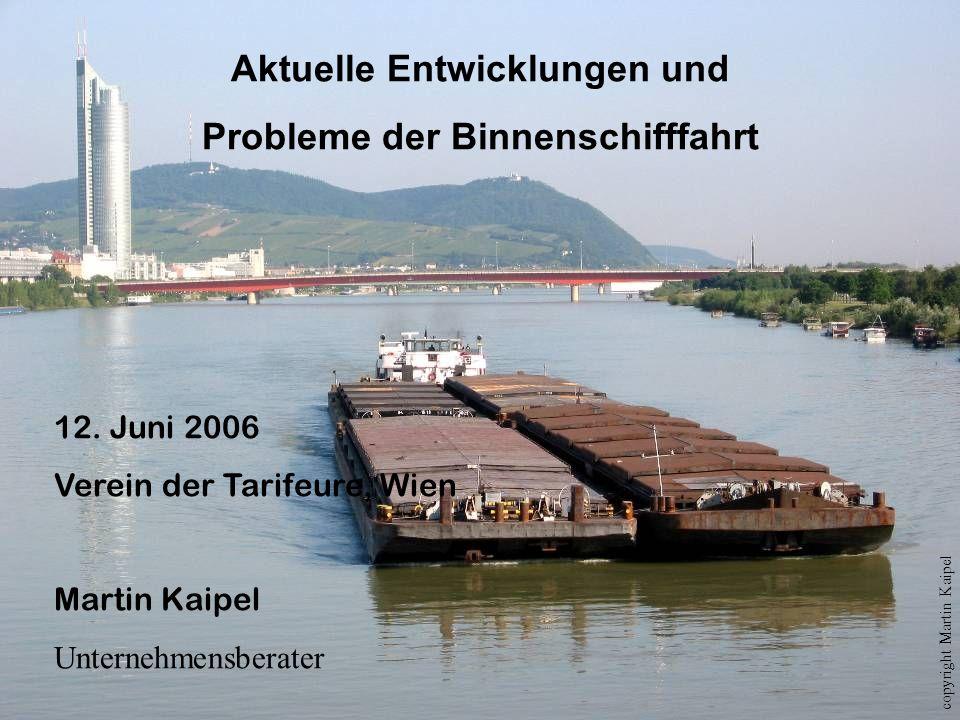 Aktuelle Entwicklungen und Probleme der Binnenschifffahrt