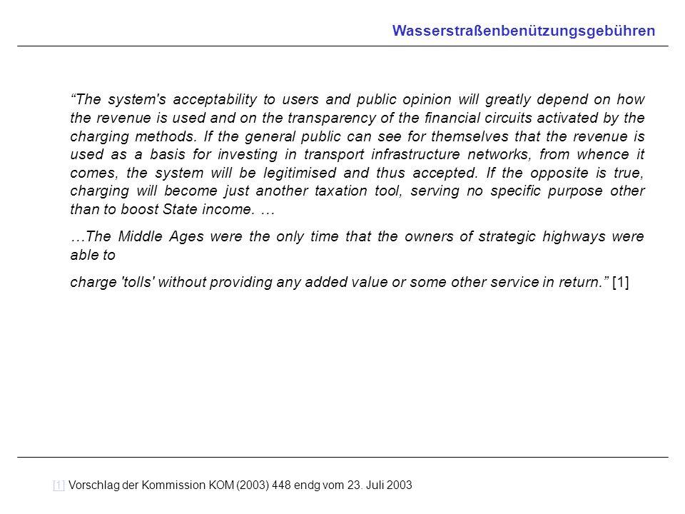 Wasserstraßenbenützungsgebühren