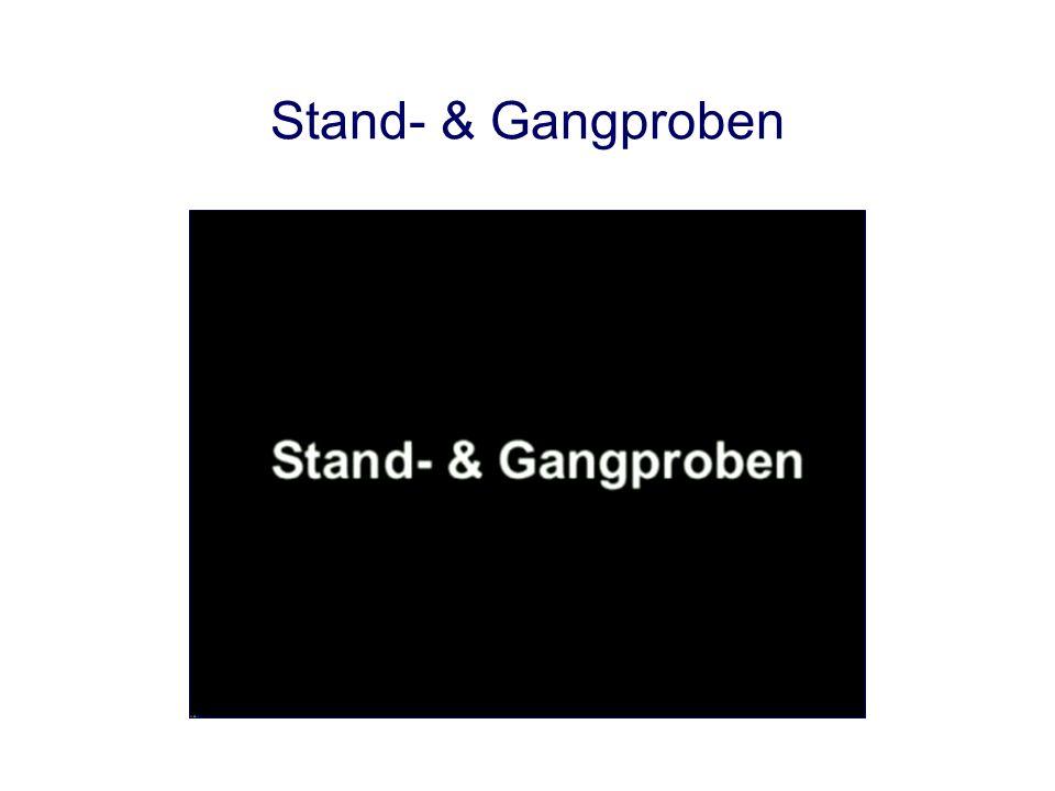 Stand- & Gangproben