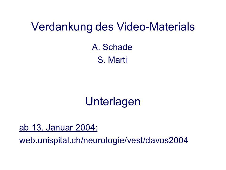 Verdankung des Video-Materials