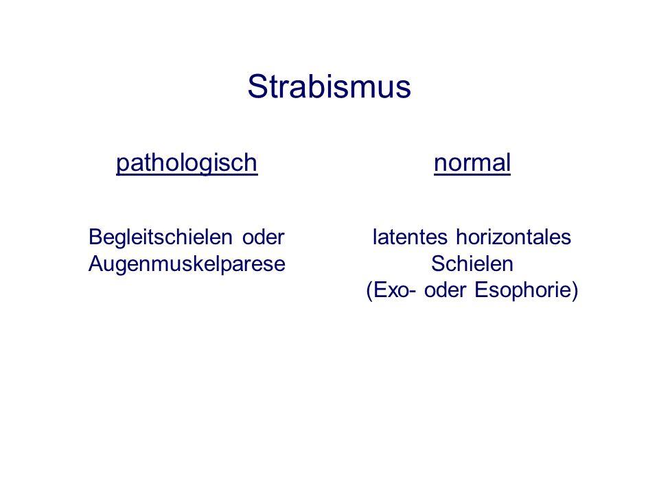 Strabismus pathologisch normal Begleitschielen oder Augenmuskelparese
