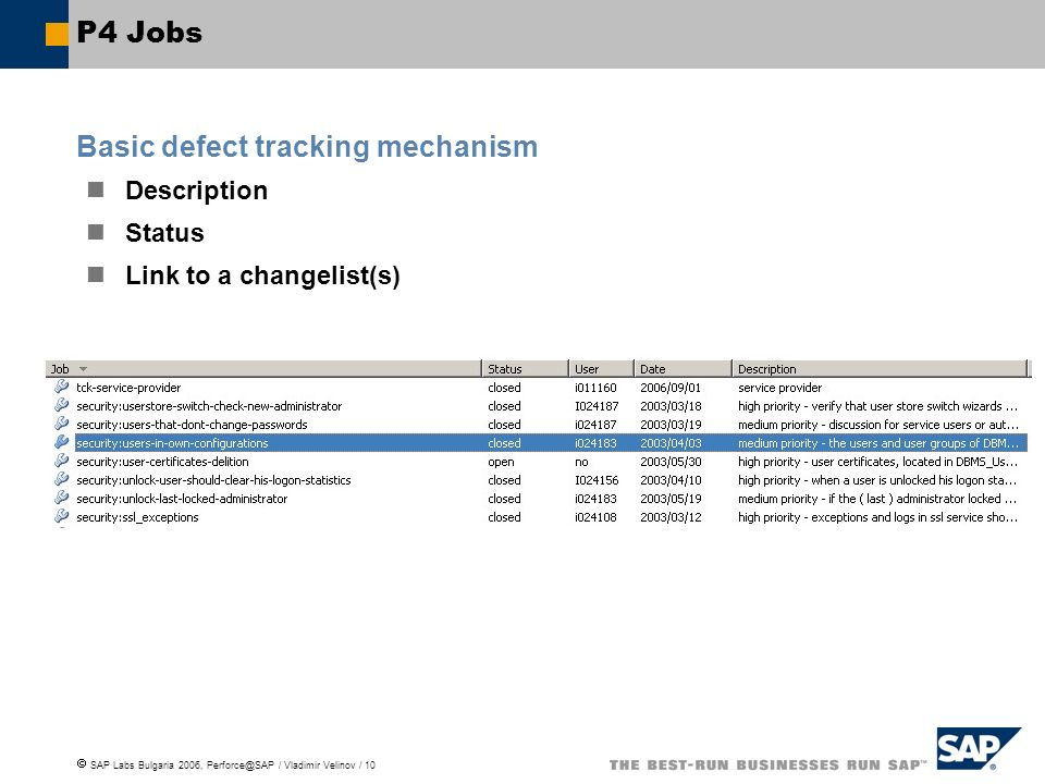 Basic defect tracking mechanism