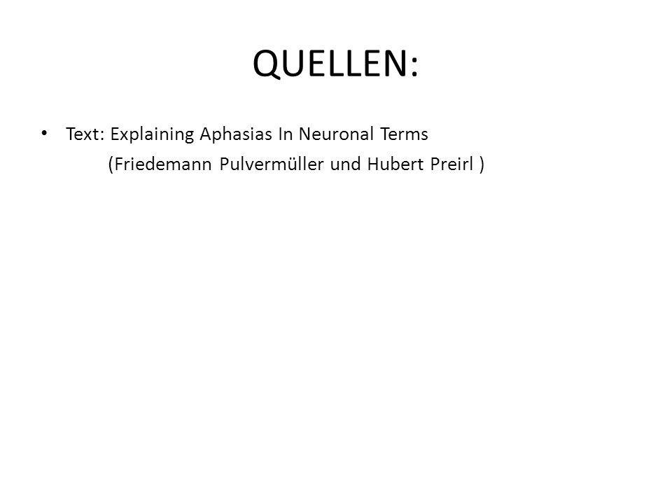 QUELLEN: Text: Explaining Aphasias In Neuronal Terms