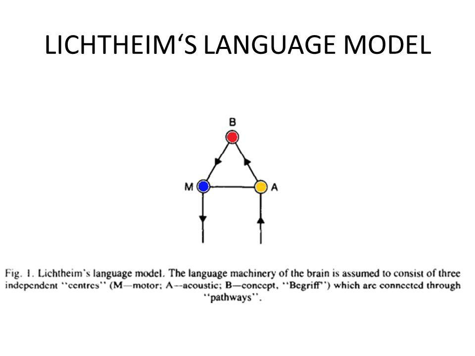 LICHTHEIM'S LANGUAGE MODEL