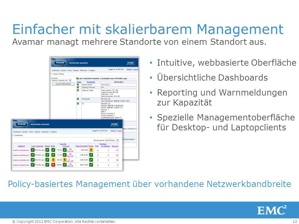 Einfacher mit skalierbarem Management
