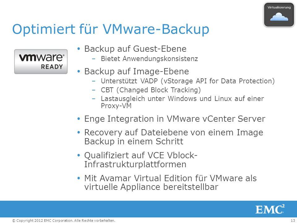 Optimiert für VMware-Backup