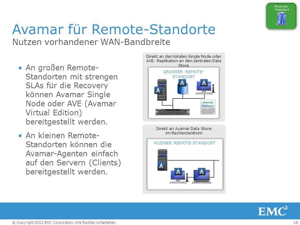 Avamar für Remote-Standorte
