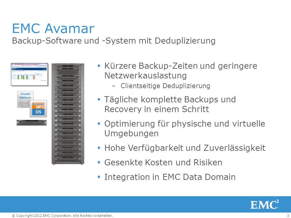 EMC Avamar Backup-Software und -System mit Deduplizierung