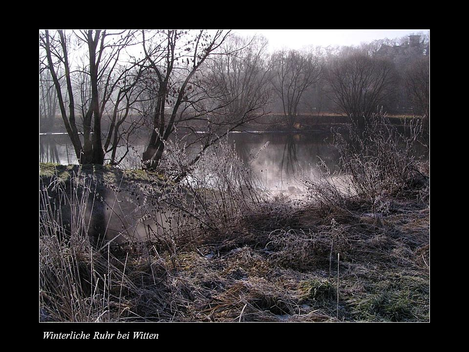 Winterliche Ruhr bei Witten