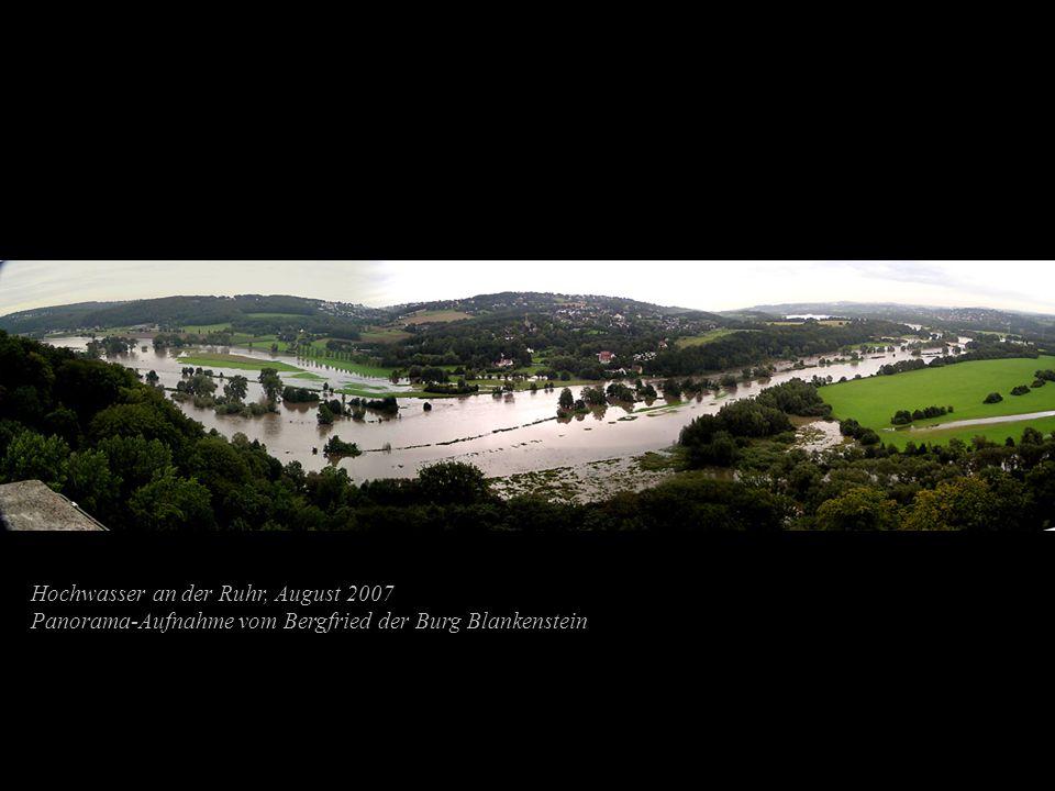 Hochwasser an der Ruhr, August 2007