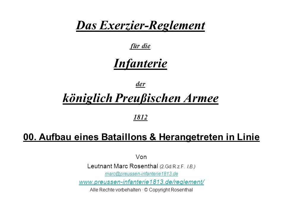 Das Exerzier-Reglement für die Infanterie der königlich Preußischen Armee 1812