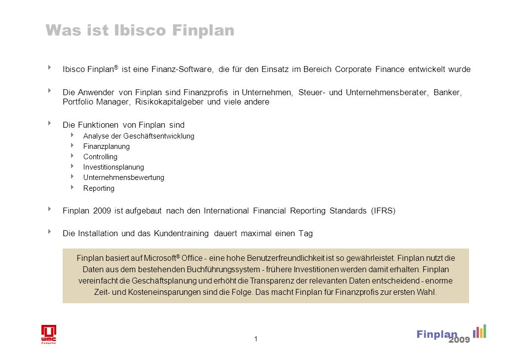 Finplan unterstützt Finanzprofis