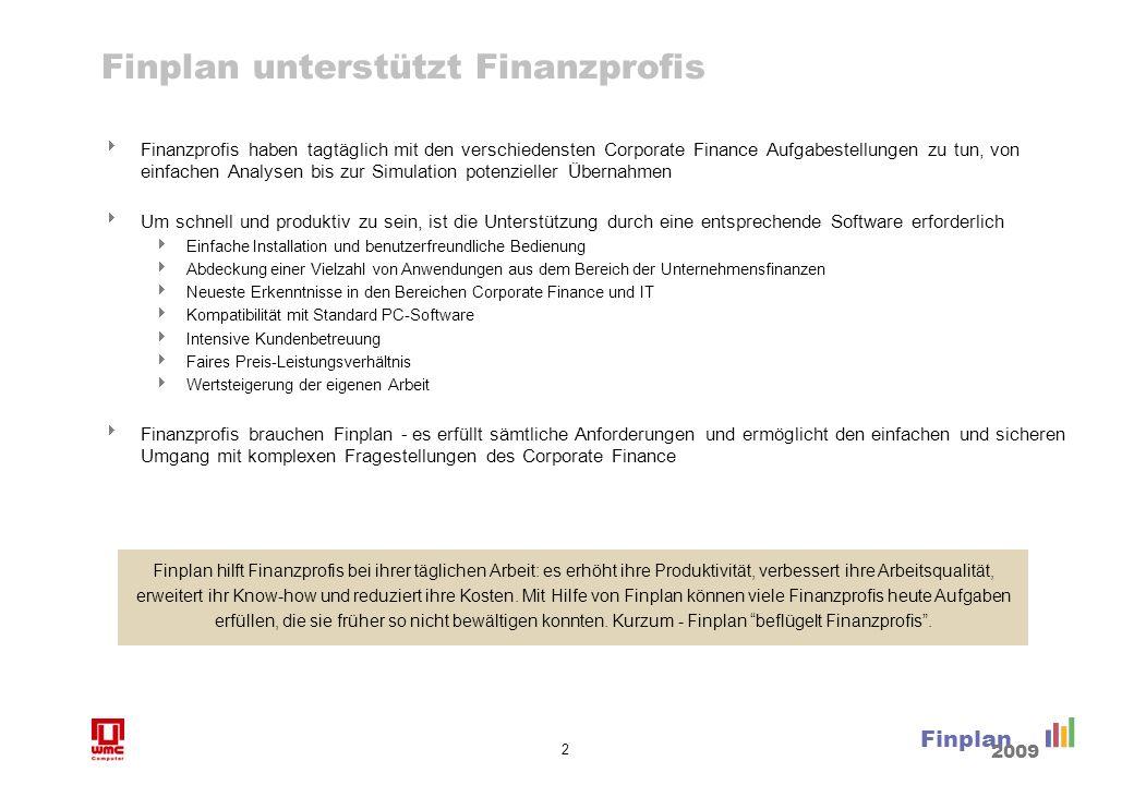 Finplan Benutzer Unternehmen nutzen Finplan zur
