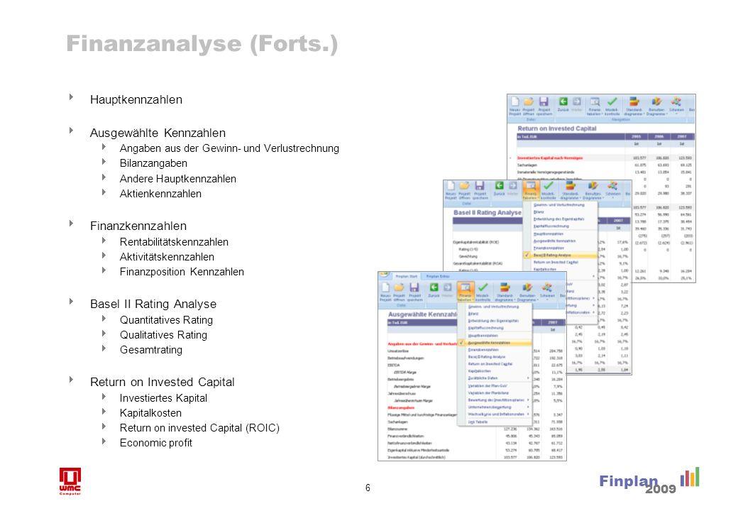 Visualisierte Analyse mit benutzerdefinierten oder Standarddiagrammen