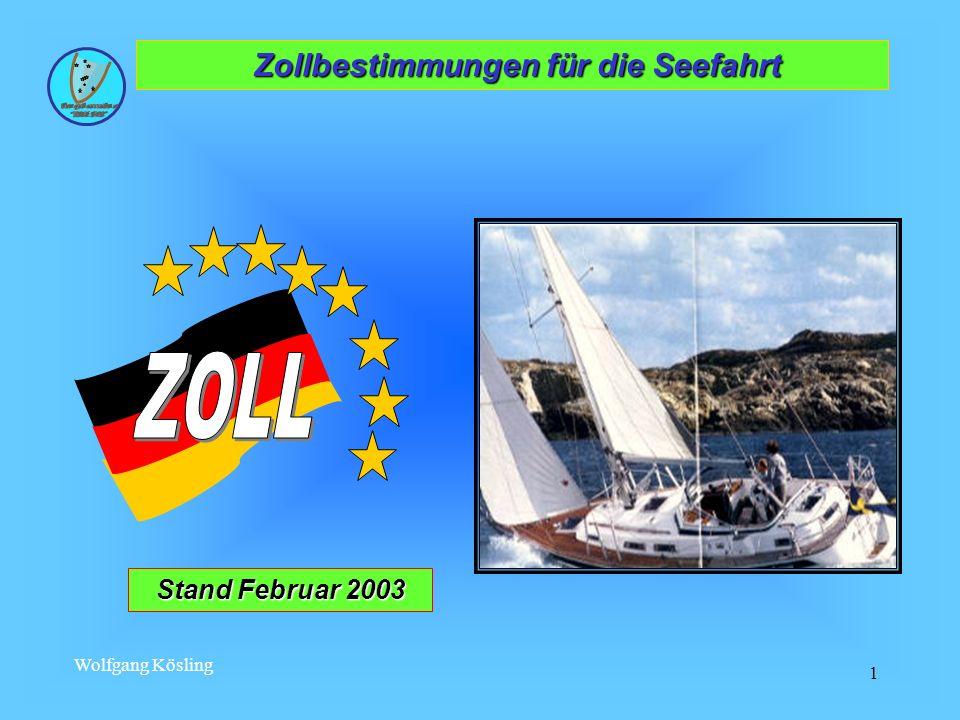Zollbestimmungen für die Seefahrt