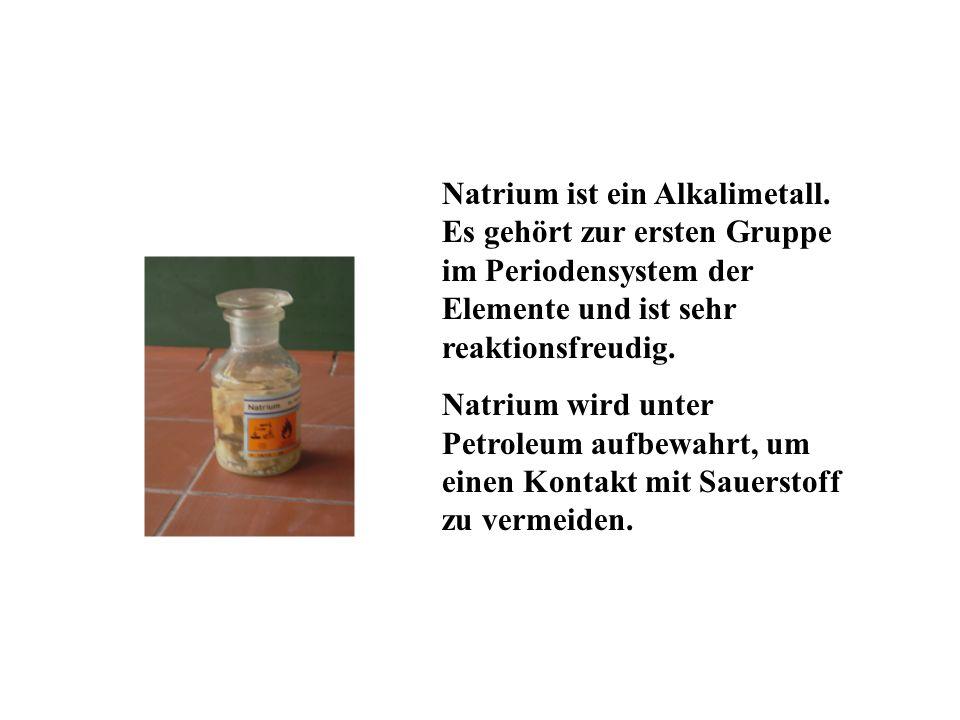 Natrium ist ein Alkalimetall