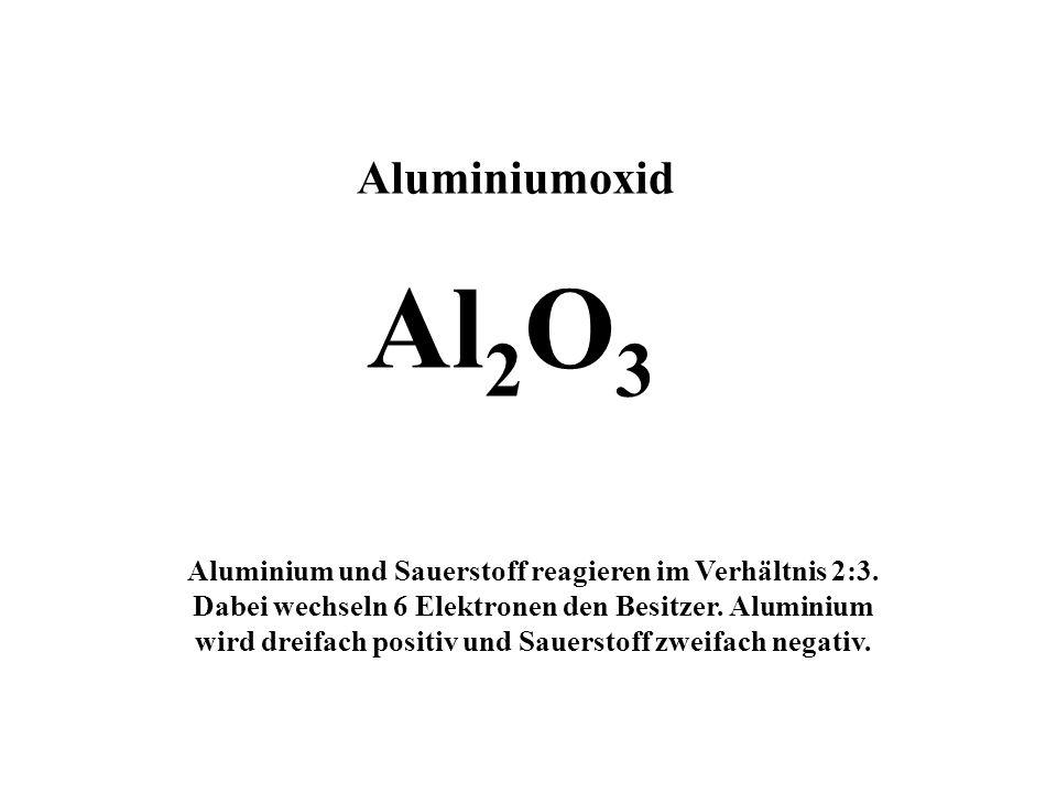 Aluminiumoxid Al2O3.