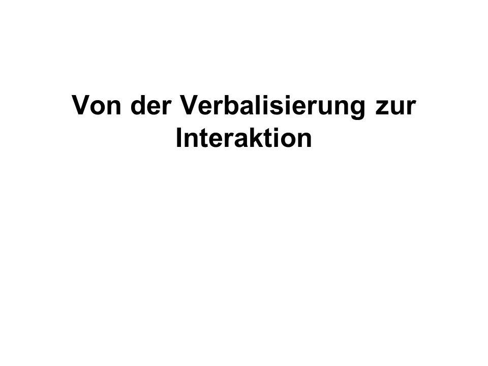Von der Verbalisierung zur Interaktion