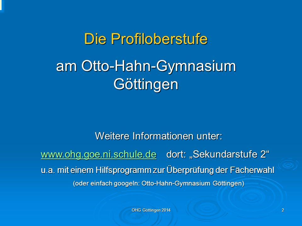am Otto-Hahn-Gymnasium Göttingen