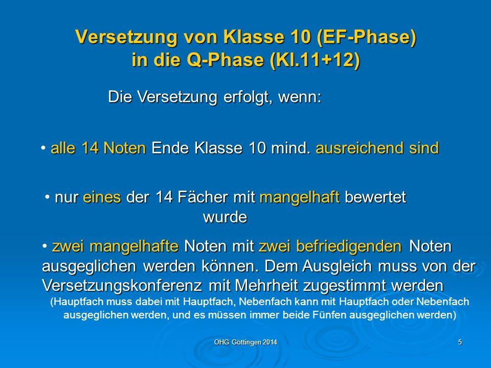 Versetzung von Klasse 10 (EF-Phase) in die Q-Phase (Kl.11+12)