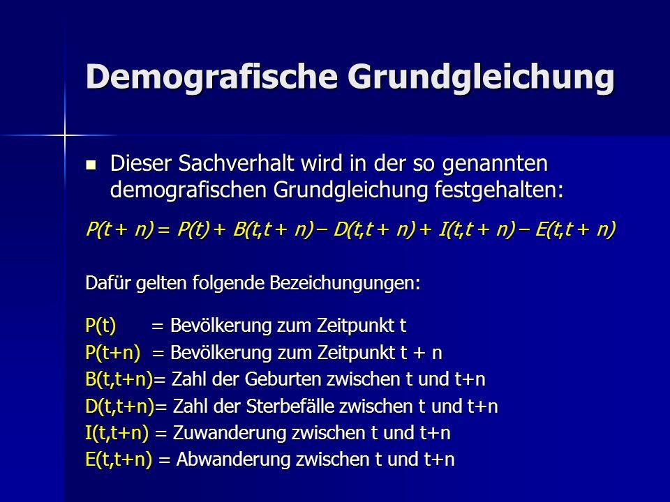 Demografische Grundgleichung