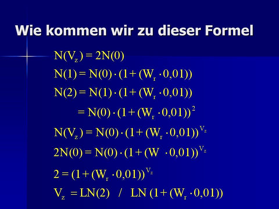 Wie kommen wir zu dieser Formel