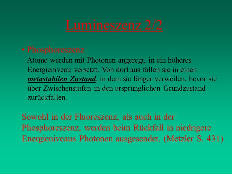 Lumineszenz 2/2 Phosphoreszenz